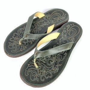 Women's Olukai Paniolo Leather Beach Sandals 11